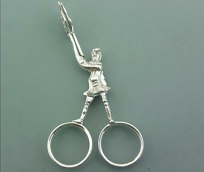 Antique Victorian Solid Sterling Silver Figural Sugar Tongs Nips 1890