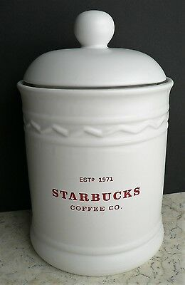 Rare - STARBUCKS - Coffee Canister - Biscotti Cookie Jar EST. 1971 COFFEE CO.