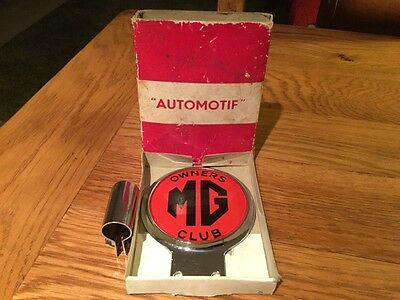 Genuine MG Owners Club Car Mascot Badge In Original Automotif Box