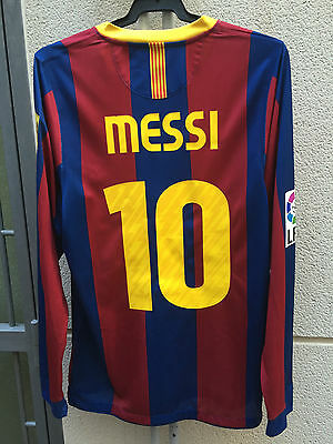 Fc Barcelona Match Worn Shirt Messi #10 2010/2011 Nike