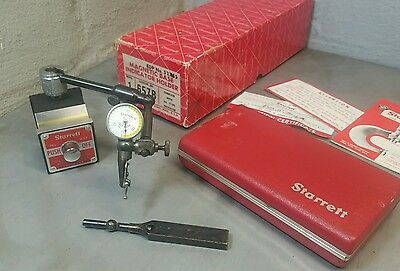 Starrett No. 657A magnetic base with a No. 711 dial indicator