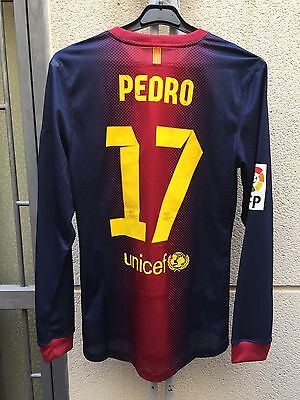 Fc Barcelona Match Worn Shirt Pedro #17 2012/2013 Nike