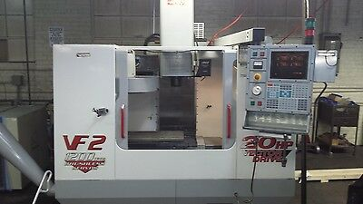 Haas VF-2 CNC Vertical Machining Center Mill 4th Axis Ready 30x16 10K RPM 2000