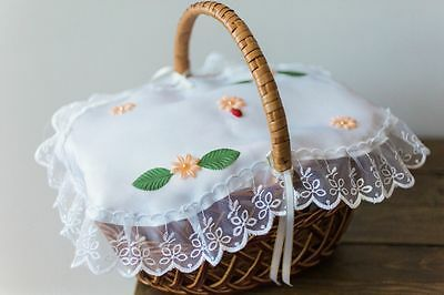 Easter Basket cover polish decoration 100% Polyester material with flowers