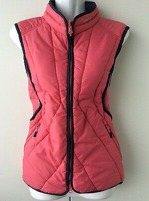 MUSTO peach and blue padded quilted waistcoat gillet riding sailing Size 10 NEW