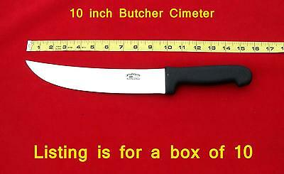 "You get 10 each of these 10"" Meat Cutters Cimeter quality Butchers knives"