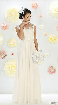 New Special Occasion Prom Demure Dress Simple Wedding Evening Formal Bridal Gown