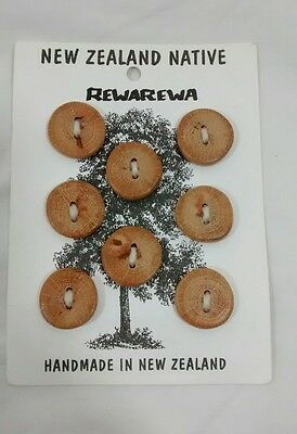 Rewarewa New Zealand Native Handmade Buttons Sewing Notions