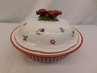 Rare Villeroy & Boch Petit Fleur 1748 Covered Casserole Dish Beautiful Top