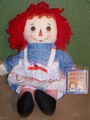 "Raggedy Ann Classic Doll 16"" By Hasbro Great Gift New"