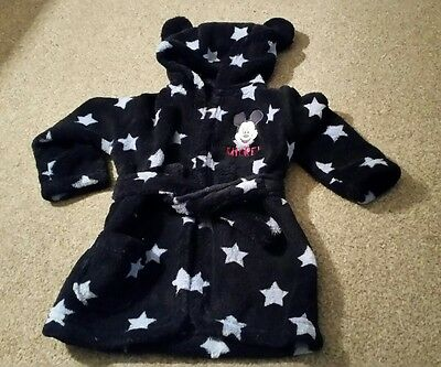 baby boys dressing gown 3-6 months