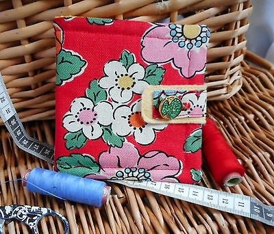 """HANDCRAFTED PADDED CATH KIDSTON NEEDLE CASE..MOTHERS DAY GIFT..""""Camden Rose"""" (L)"""