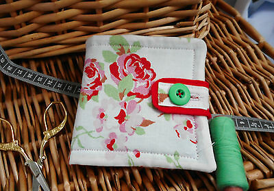 """HANDCRAFTED PADDED CATH KIDSTON NEEDLE CASE-MOTHERS DAY GIFT-""""ROSALIE"""" white (H)"""