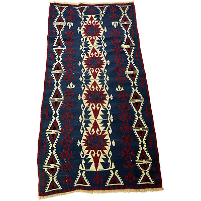 Hand Knotted Anatolian Rug(Kilim) from Van Region of Turkey
