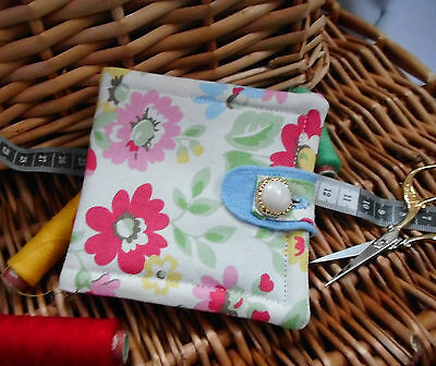 """Handmade Padded Cath Kidston Needle Case..mothers Day Gift.""""spring Flowers"""" (F)"""