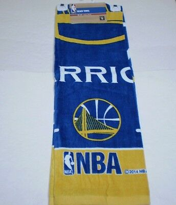 """New NBA Golden State Warriors Full Size Beach And Home Decor Towel 30"""" X 60"""""""