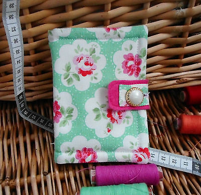 """Handmade Mothers Day Gift.. Padded Cath Kidston Needle Case.""""provence Rose"""" (D)"""