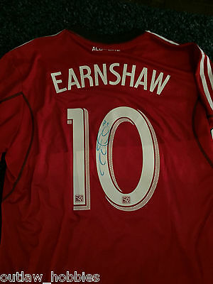 2013 Toronto FC Robert Earnshaw Signed MLS Authentic Jersey COA XL BNWT