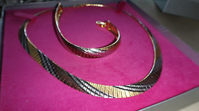 NEW IN BOX Gorgeous Silver 925 Karma Necklace & Bracelet Set Made in Italy