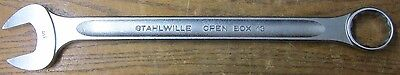 "NEW NOS Stahlwille 40486464 Combination Spanner Wrench Open Box End 1-1/2"" Inch"