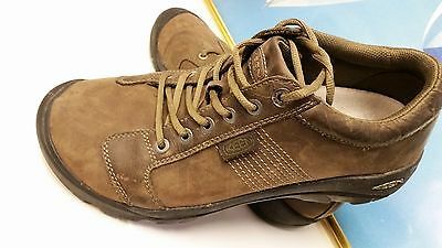 """Keen Men's Brown Leather Casual Comfort Walking Shoes US 12 """"CLEAN"""""""