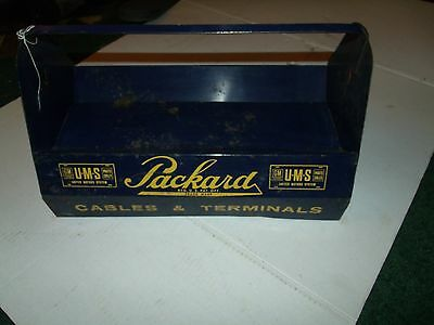 VINTAGE toolbox  GM Packard Cable Wiring Connectors Terminals Caddy Tool Box