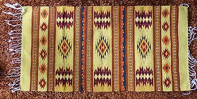 """Zapotec Wool Rug Handcrafted in Mexico 32"""" X 56"""""""