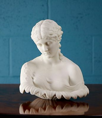 Parian bust of Clytie, symbol of unrequited love (100212a)