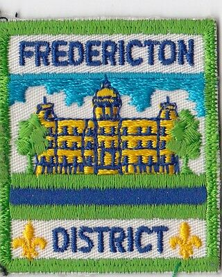 """Fredericton New Brunswick District Scouts Canada, 2.25"""", & 2  1"""" Scout patches"""