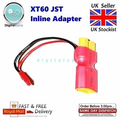 XT60 with JST Male In-line Lipo Power Adapter Connector Cable - Female