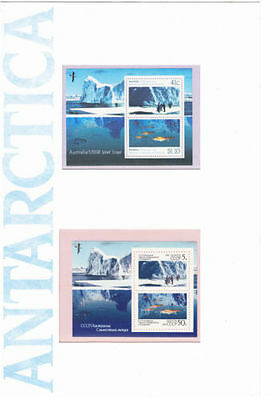 Mint 1990 Antarctica Book And Mint Aat Mini Sheet Stamp Pack Joint Issue Ussr