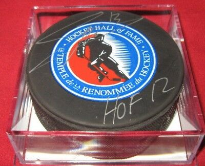 Mats Sundin Signed Hockey Hall Of Fame Puck Coa Holo Autographed Maple Leafs