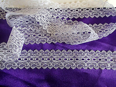 knitting in/eyelet lace 5 metres x10 cm wide white