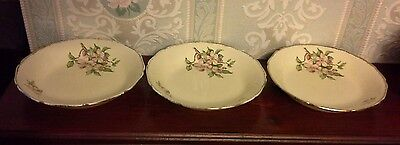 Vintage Royal Swan Blossomtime Set Of Three (3) -Cereal/soup/pasta Bowls -Gc