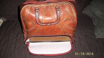 Vintage Gladding Brown Bowling Ball Bag Easy Access Shoe Garage Great Condition