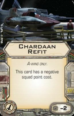 Star Wars X-wing Miniatures A-Wing Chardaan Refit Missile Mod upgrade card
