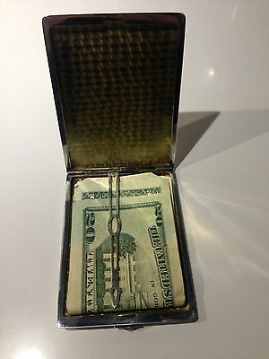 Vintage Sterling Silver Cigarette Case Or Repurposed Wallet 110 Grams/3.8 Oz