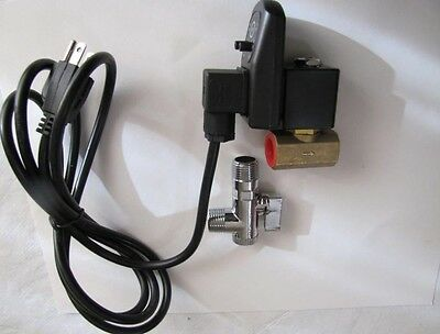 """Automatic Electronic Air Compressor Tank Drain Valve 1/2"""" NPT Ports w/ 3M cable"""