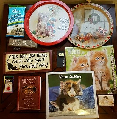 Cat Themed Lot! its a Purrfect Cat-astrophe! 11 Pieces