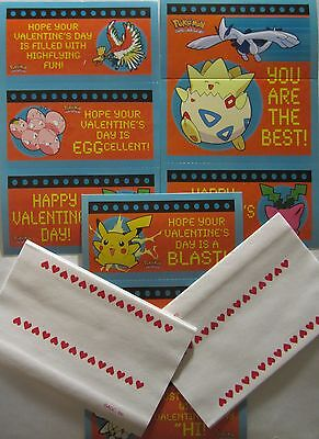 Vintage Pokemon Valentines Day Cards from 2000-35 in total with envelopes-CUTE