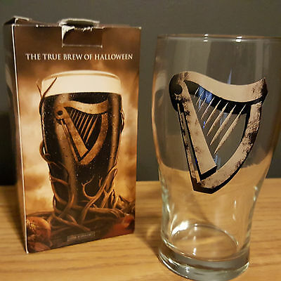 Guinness Collectible Official Halloween Beer Pint Glass with Box