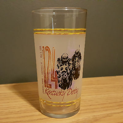 Vintage Kentucky Derby 124 Collectible Tumbler Glass May , 1998 Churchill Downs