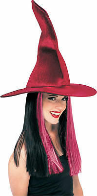 Halloween Velour Crooked Witch Hat With Hair - Adult/Teen ( One Size ) 49232
