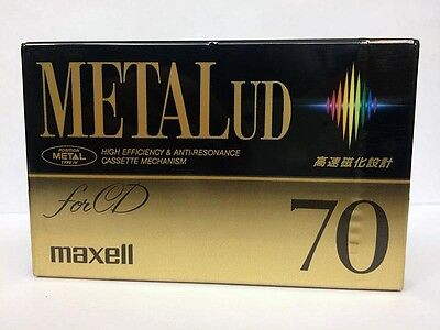 Maxell Metall Ud 70 Blank Audio Cassette Tape New Rare 1992 Year Japan Made