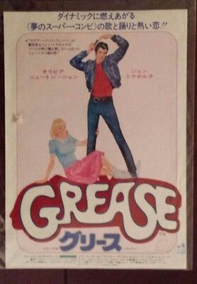 Grease Original  Japanese Chirashi  Mini Poster  John Travolta
