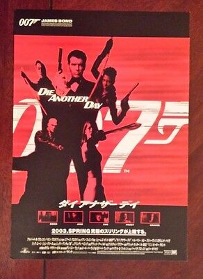 James Bond 007 Die Another Day Japanese Chirashi  Mini Poster