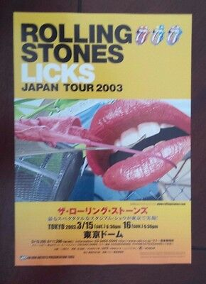 Rolling Stones Licks Tour Japanese Daybill