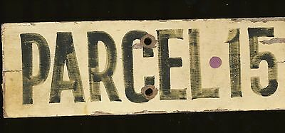 Parcel 15 Vintage Hand Painted Wooden Arizona Ranch Sign