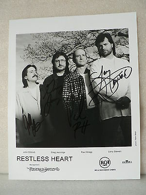 RESTLESS HEART Country Music Signed Autograph by all the members  8 x 10 Photo