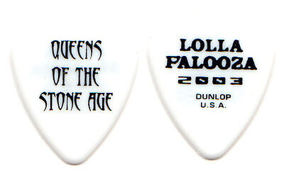 QUEENS OF THE STONE AGE Guitar Pick : 2003 Lollapalooza Tour white dunlop